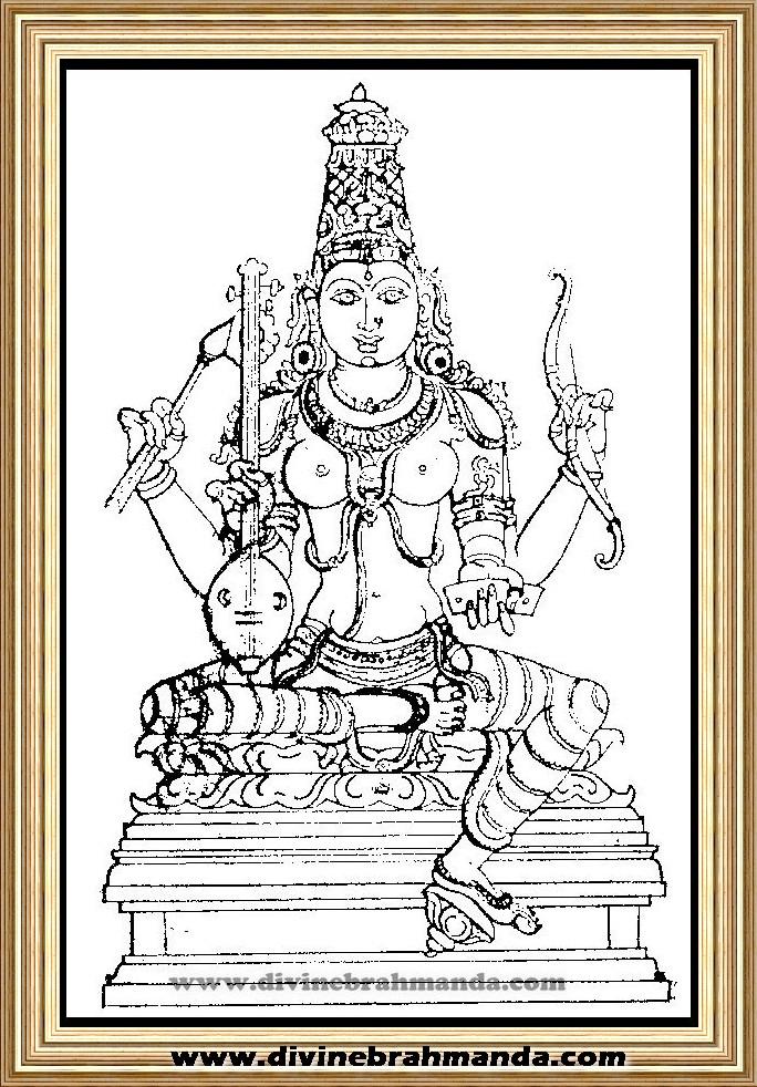 Soundarya Lahari Sloka, Yantra & Goddess To Make a Dumb Man Speak - 12
