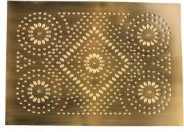 Pie Safe Tin - Fireworks Pattern - Antique Brass (STL-FWKSAB)