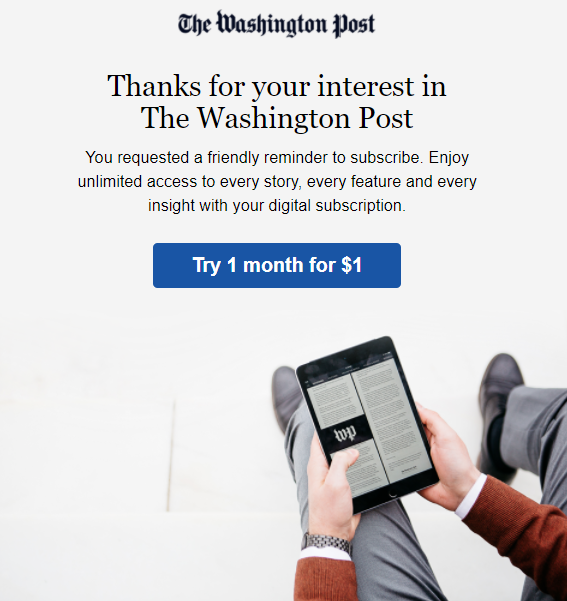The Washington Post Subscription Email