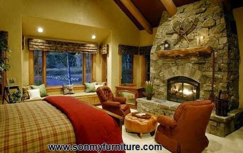 Phòng ngủ mộc mạc cho mùa đông ấm áp-6