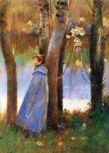 Theodore Robinson - Figure in a Landscape