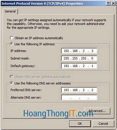 Cấu hình DNS Secondary