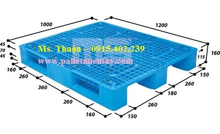 Pallet nhựa nhập khẩu Malaysia EN4-1210