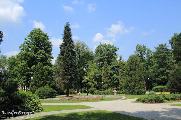 Park miejski w Wiśle