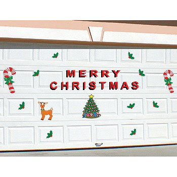 Merry Christmas Garage Door Magnets Outdoor Decor