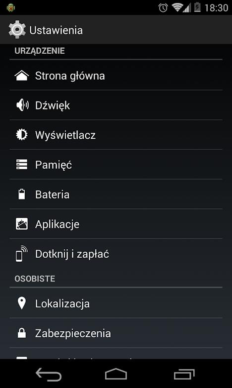 Dotknij i zapłać - Android KitKat 4.4