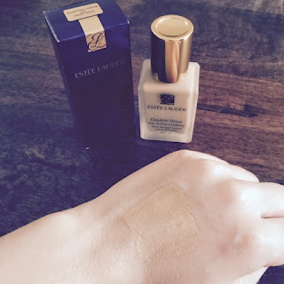 Estée Lauder Double Wear before bending into skin.