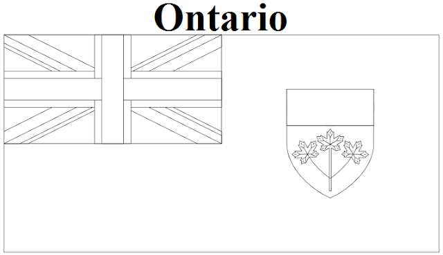 The Geography Blog: Ontario Flag Coloring Page