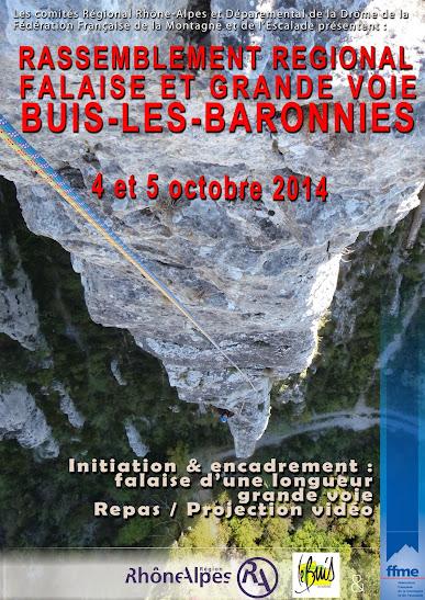 Rassemblement régional falaise et grande voie à Buis-les-Baronies