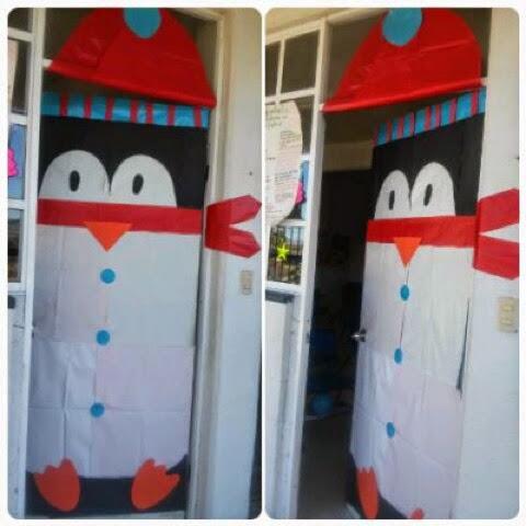 Mis cosas de maestra decoraci n de puertas navide as Decoracion para puertas
