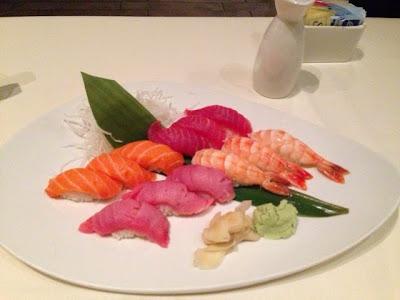 Tuna, Shrimp, Toro and Salmon Sashimi, Uptown Sushi Houston