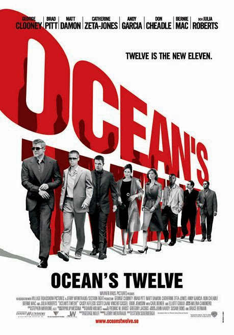 Poster Of Ocean's Twelve (2004) Full Movie Hindi Dubbed Free Download Watch Online At Alldownloads4u.Com
