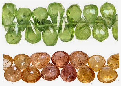 Peridot and Topaz Beads from House of Gems