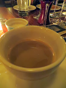 Serratto Bloggers Dinner, Spokane Speedball with espresso and Baileys warmed on the wand!