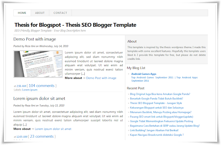 thesis on blogging