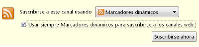 Agregando un marcador dinámico en Firefox