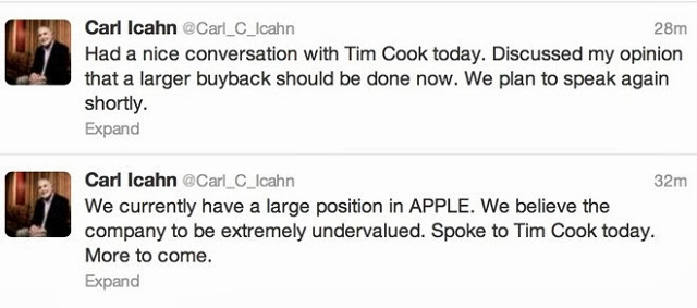 efecto Icahn en las acciones de Apple