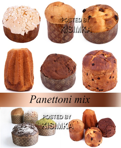Stock Photo: Panettoni mix