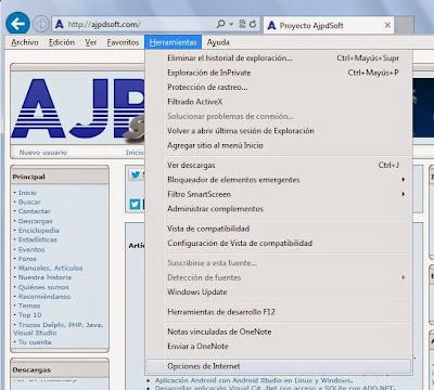 Restablecer configuración original Internet Explorer