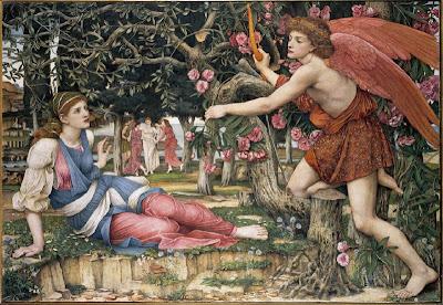 John Roddam Spencer Stanhope - Love and the Maiden, (1877)