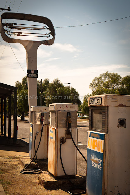 In Wycheproof - old petrol station - Go For Fun - Australian Travel and Activity Community. Inspire, Share, Enjoy!
