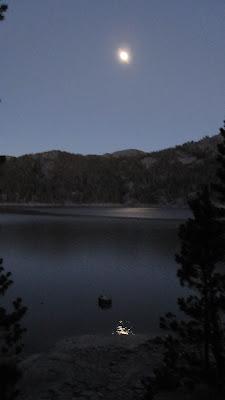 Full moon over Waugh Lake.