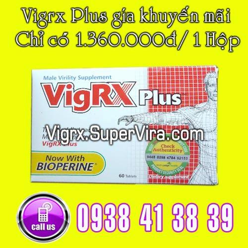 Vigrx Plus khuyến mãi 1 hộp Vigrx Plus với giá chỉ còn  1.360.000đ