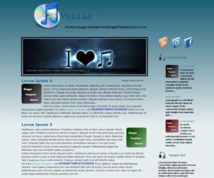 free blogger template custom slideshow