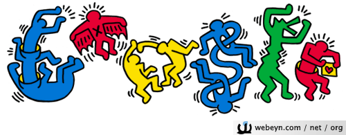 Keith Haring Google logosu