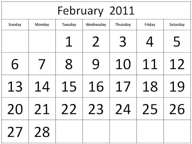 2011 calendar february. 2011 calendar printable