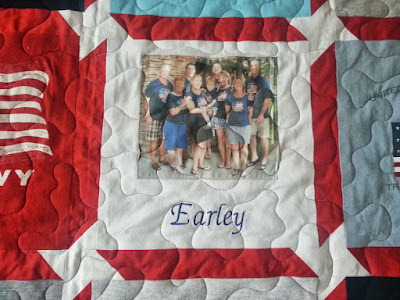 The family name was embroidered below the beautiful family picture!