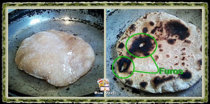 Pão sirio com fermento natural