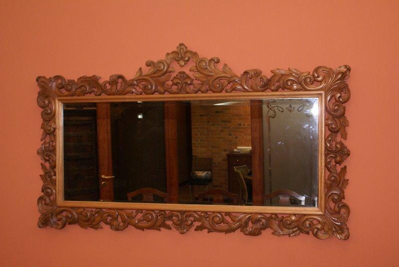 Arte en madera marcos para espejos for Espejos de pared originales