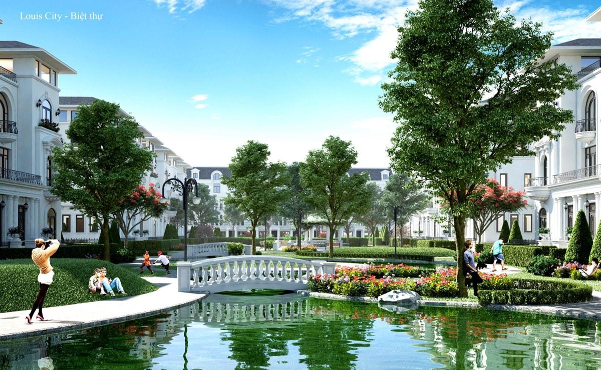Khuôn viên dự án Louis City Hoàng Mai