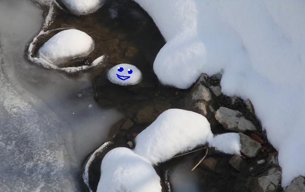 смайлик из снега