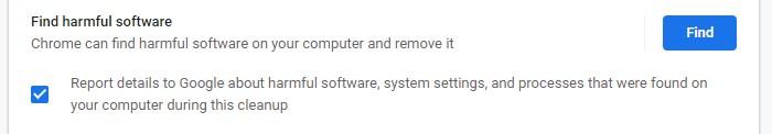 The chrome malware removal tool