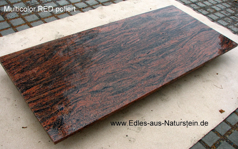 naturstein tischplatte granit marmor esstischplatte multicolor rot 200 90 platte ebay. Black Bedroom Furniture Sets. Home Design Ideas