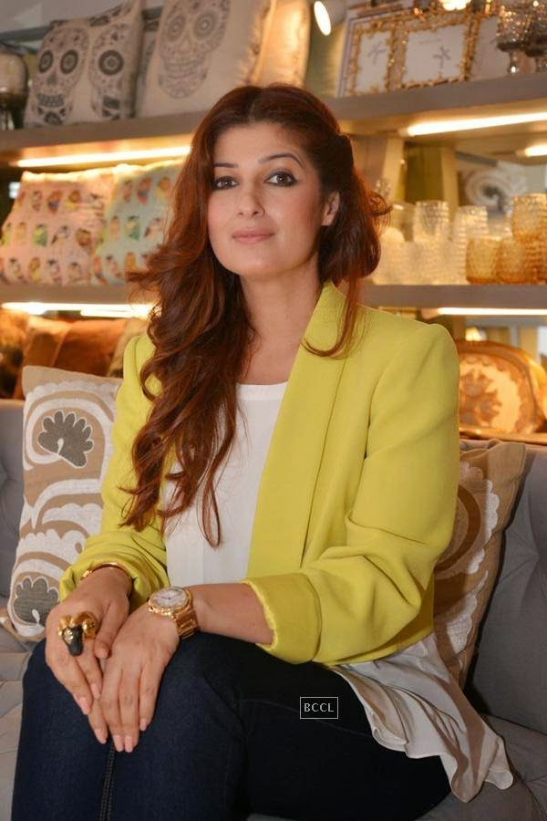Twinkle Khanna during the preview of Flower Power Collection, held at The White Window store, in Mumbai, on July 31, 2014. (Pic: Viral Bhayani)