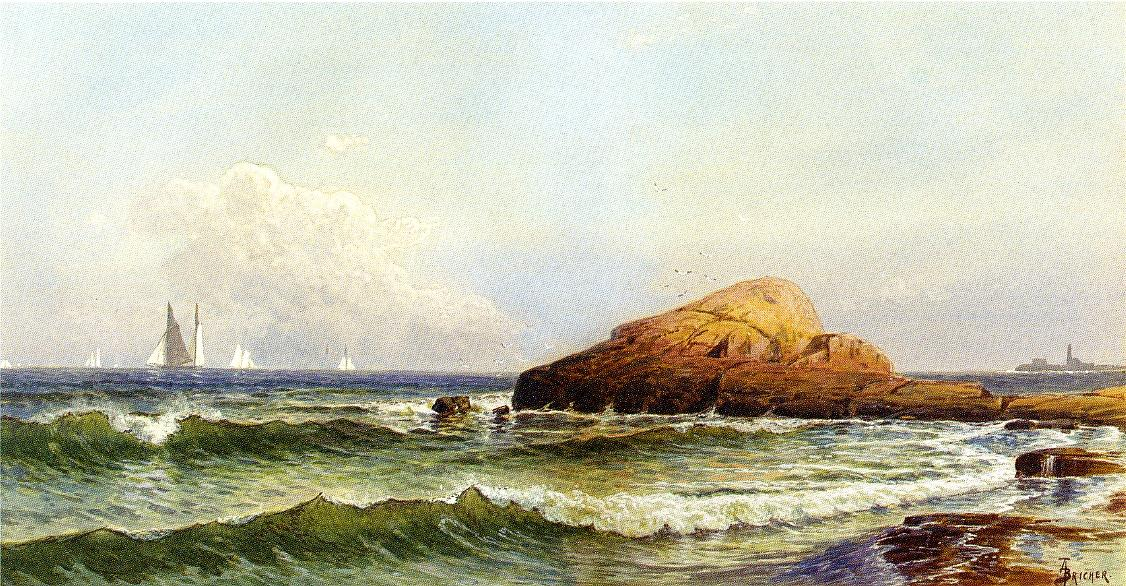 Alfred Thompson Bricher - Little Bass Rock, Narragansett Pier