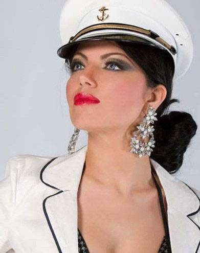 Persian Model Layla Atefi with cap