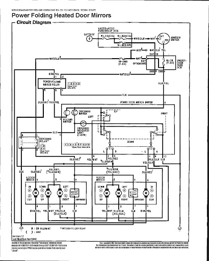 1992 Honda Civic Power Window Wiring Diagram : The definitive civic power folding heated mirrors