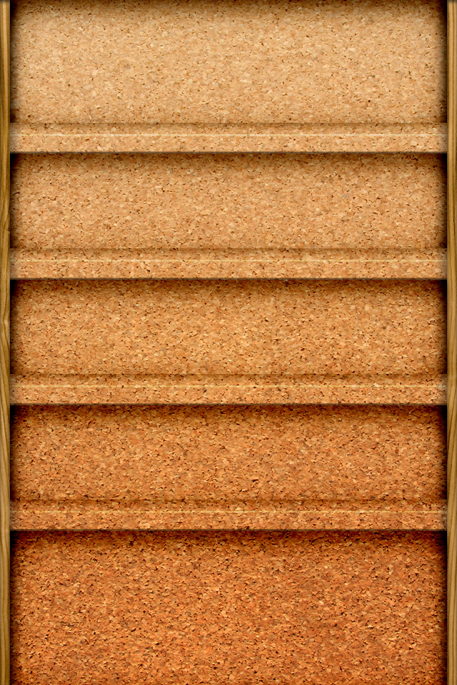 Brown Shelves Wallpapers For iPhone 4
