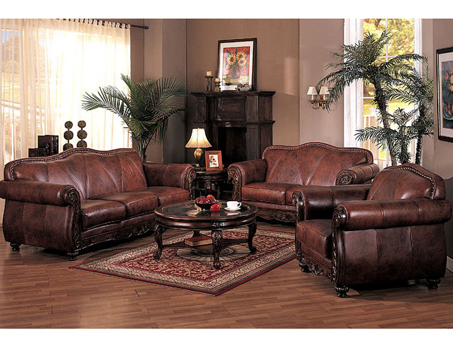 Furniture Adding Luxury With Leather Living Room Furniture Set