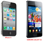 Samsung Galaxy S2 vs iPhone 4 Samsung I900 Galaxy S II vs Apple iPhone 4   VIDEO