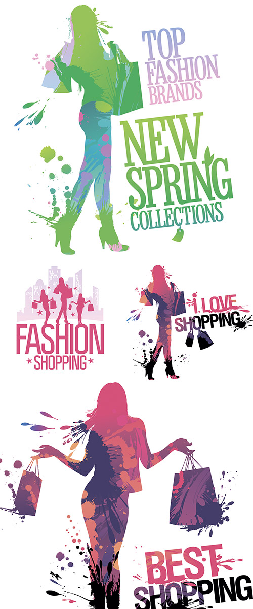 Stock: Fashion shopping design template