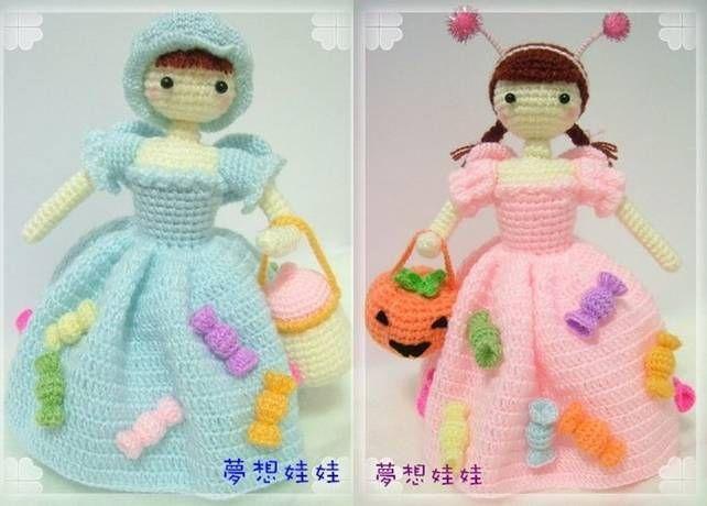 Giới thiệu các mẫu búp bê đan móc bằng len sợi