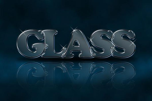 Make an awasome glassy text effect in 30 minutes