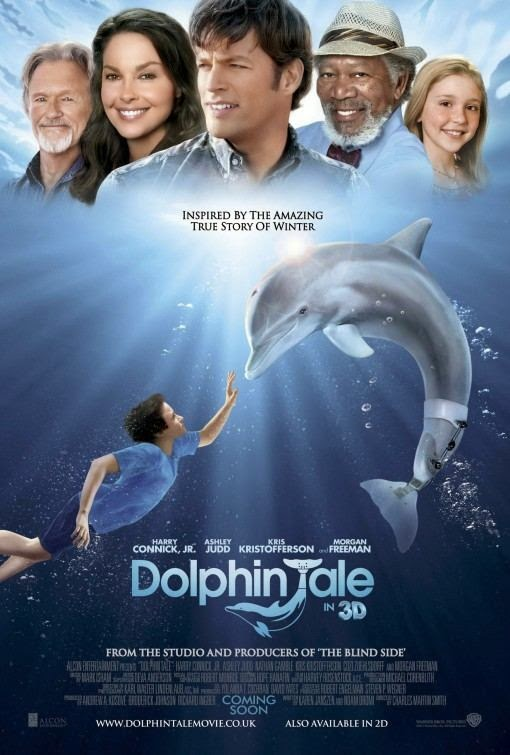 Poster Of Dolphin Tale (2011) Full Movie Hindi Dubbed Free Download Watch Online At Alldownloads4u.Com