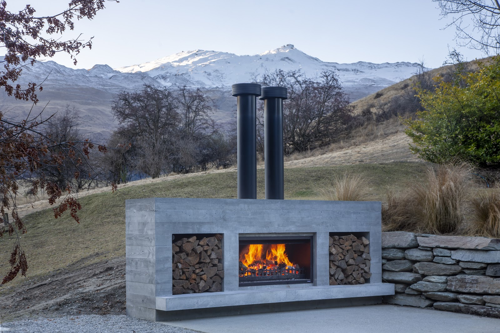 Extra-large Outdoor Fireplace