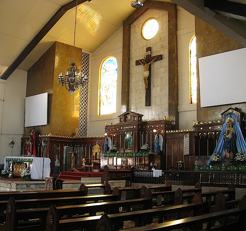 interior of Pinaglabanan Church